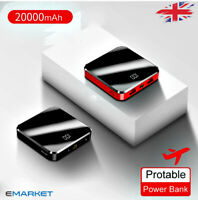 Power Bank 20000mah Cell Phone External Battery Charger Type-C Micro USB Glossy