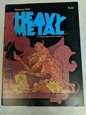Heavy Metal Magazine Vol 1 #11 February 1978 Moebius Corben FN 1977 Series