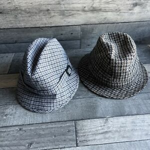 Pair Of Vintage Mens Hats - Size 54 & 56