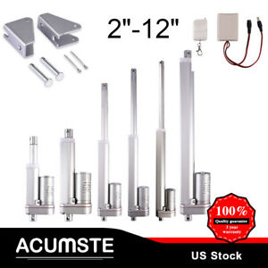 """2""""-12"""" Linear Actuator Stroke 900N 50-300mm 12V DC 12mm/s Auto Lift Heavy Duty"""
