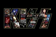Kiss In Concert Photo Logo Poster Gene Simmons Ace Frehley Kiss live Peter Criss