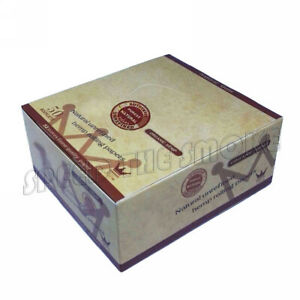 25 booklets Unbleached Cigarette Rolling Papers King Size Slim 108*45mm