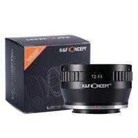 K&F Concept Adapter for T-2 T2 Mount  Lens to Fujifilm Fuji FX X-Pro1 E1 E2 T1
