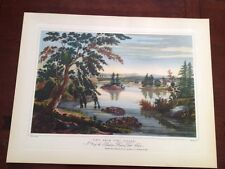 Antique Lithograph Art Print Fort Miller Hudson River Port Folio W.G. Wall