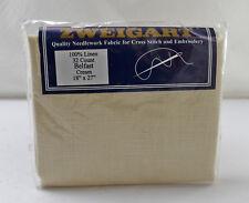 "Zweigart Belfast 32 Count Cream Linen Cross Stitch Aida Fabric - 18"" x 27"""