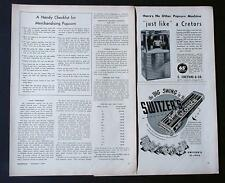 2 RARE 1950 POP CORN ADS CRETORS POPCORN MACHINE ADVERTISEMENT & ARTICLES
