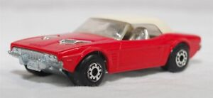 MATCHBOX SUPERFAST - R-001C VER 1, DODGE CHALLENGER, RED, UNP BASE JB1386