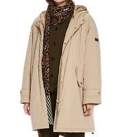 SCOTCH & SODA Parka stylische Damen Oversized-Jacke Kapuze Übergangs-Jacke Beige