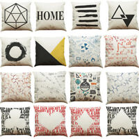 Geometric Lines Cotton Throw Linen Pillow Case Cushion Soft Cover Home Decor