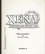 "XENA WARRIOR PRINCESS television script copy ""Dreamworker"""