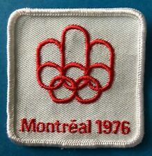 Rare 1976 Olympic Summer Games Montreal Canada Hat Hipster Jacket Patch Crest B