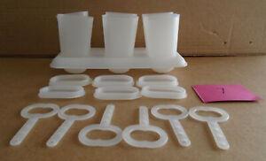 Tupperware Popsicle Ice Tups Set Molds plus Tray #481 R7  sa