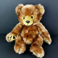 """First and Main Plush Dimples Teddy Bear 14"""" Soft Floppy Paw Pads Chestnut #A51"""