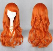 One Piece Nami deux ans plus tard , orange long Ondulé animation fête perruques