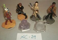 DISNEY Infinity Figura Bundle-Rey FINN Crystal x2-Star Wars-Anakin ASOKA
