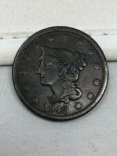 1843 Braided Hair Large Cent