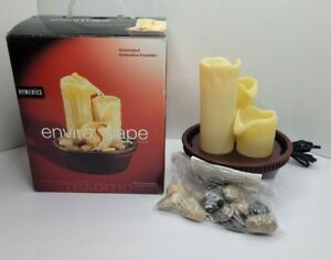 HoMedics Shimmering Towers Illuminated Relaxation Fountain Candle Light Effect
