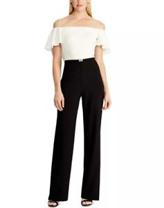 Lauren Ralph Lauren Two-Tone Belted Jumpsuit $190 Size 4,6,12,14 # 14A 1046 B