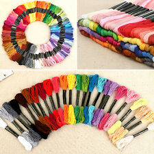 NT 50PCS Cotton Cross Floss Stitch Thread Embroidery Sewing Skeins Multi Colors