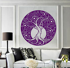 Vinyl Wall Decal Celtic Tree Of Life Circle Room Art Decor Stickers (1378ig)