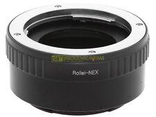 Adapter x montare ottiche Rollei su corpi Sony E Mount Nex-Alpha. Adattatore NEX