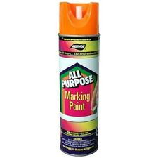 Aervoe 15oz Fluorescent Orange All-Purpose Inverted Marking Spray Paint 12pc