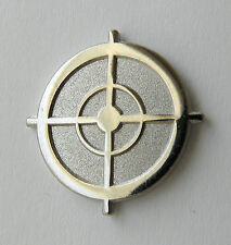 Sniper Scope Sight Silver Rifle Gun Weapon Lapel Hat Pin 1 inch