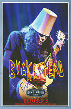 Buckethead autographed concert poster