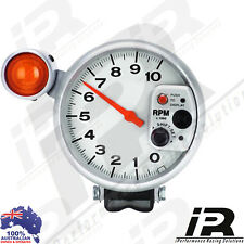"5"" Silver Tachometer Monster Tacho Gauge RPM Shift Light 10000 RPM"