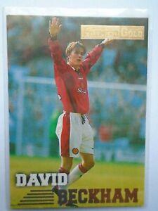 David Beckham Rookie Card Merlin Premier Gold 1996/97 Manchester United #92