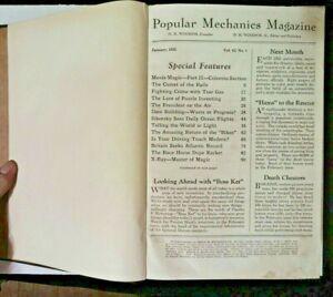 1935 POPULAR MECHANICS MAGAZINE BOUND LOT 6 ISSUES JANUARY-JUNE WALT DISNEY!