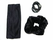 Black Velvet Hair Set Hair Accessories UK