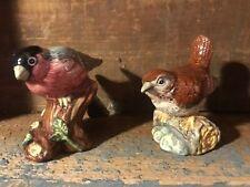 "Royal Doulton Animals (Wren & Bull Finch) 2005 Bone China England Rare 3"""