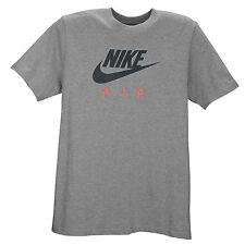 NIKE Air Logo T-Shirt sz S Small Heather Grey Pink Roshe Huarache 90 95 Flyknit