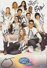 AMERICAN IDOL TV SHOW TOP 10 WINNERS 2010 LIVE TOUR SIGNED STEINER PROMO PHOTO