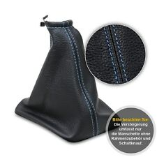 Schaltsack Schaltmanschette für Fiat Grande Punto 2005-Echt Leder blaue Faden