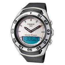 Tissot Men'S T0564202703100 парусный спорт Touch 45 мм серебристый циферблат резиновые часы