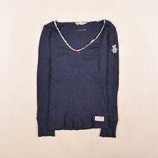 Odd Molly SEÑORA BLUSA TOP camisa blouse talla 2 (ar 38) 214 100% Organic Navy 85022