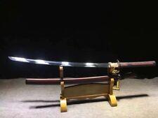 Handmade Japanese Sword Sharp High Manganese Steel Samurai Katana Sabre FullTang