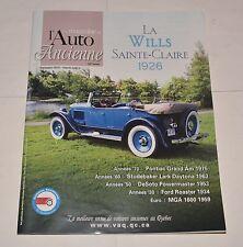 LE MAGAZINE DE L'AUTO ANCIENNE FRENCH SEPTEMBRE 2010 WILLS SAINTE-CLAIRE 1926