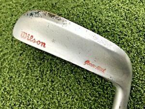 "RARE Vintage Wilson Gooseneck Blade Putter 35"" Original Leather Gruv-Grip"