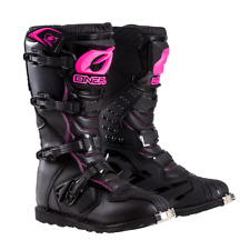 2019 Oneal Motocross/Offroad Rider YOUTH Boots BLACK & PINK SIZE 4
