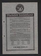 Halle/Saale, prospekt 1938, C. W. Pabst Melkfett uddersund