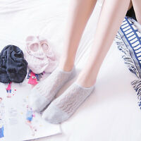 6 Pairs Womens Cotton Mesh Invisible Nonslip Boat No Show Black White Gray Socks