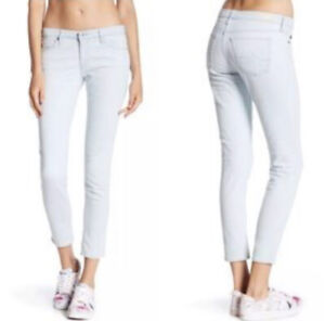 AG ADRIANO GOLDSCHMIED light blue The Legging Ankle Super Skinny Jeans ~ sz 29