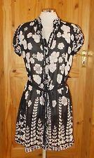 Chiffon Short Sleeve Mini Floral Dresses for Women