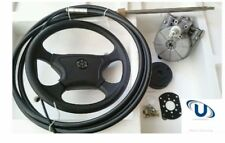 NEW  5.48m~18FT UNIVERSAL BOAT STEERING WHEEL SYSTEM QUICK CONNECT STEERING KIT