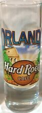 "Hard Rock Cafe ORLANDO 2004 City Tee T-Shirt 4"" SHOT GLASS Cordial HRC GLASSWARE"