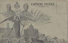 A5485) XX SETTEMBRE 1895 PAPA PIO IX E LEONE XIII. PORTE INFERI NON PRAEVALEBUNT