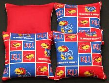 University of KANSAS JAYHAWKS Cornhole Bean Bags ACA Regulation KU Tailgate Bags